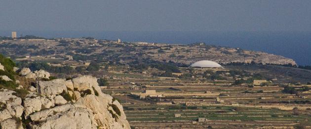 Ħaġar Qim is protected with a big tent