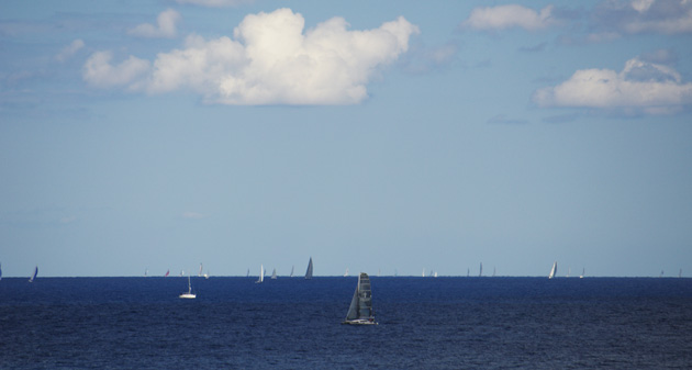 A lot of sailboats on their way to Sicily