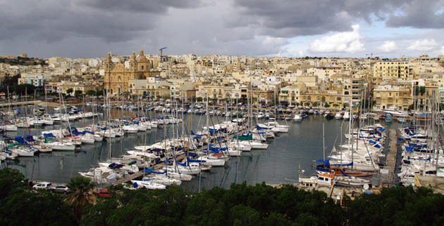 View over Msida marina