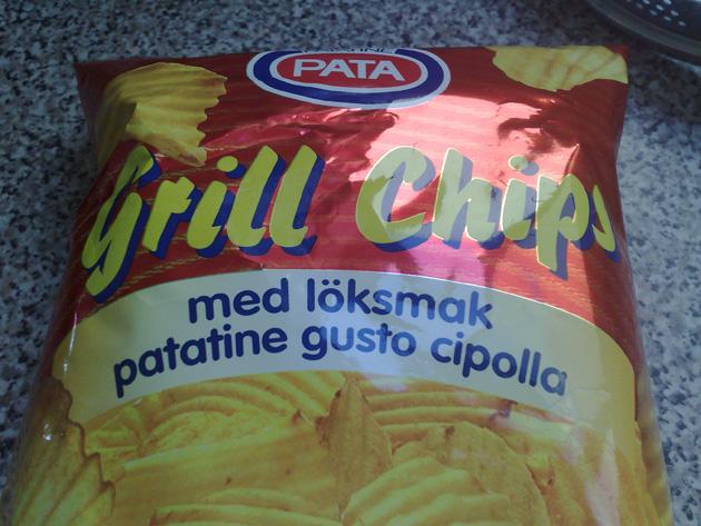 Grillchips med löksmak