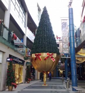 Bay street version of a Christmas tree