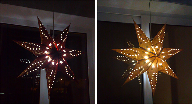 Stars are shining in our windows now