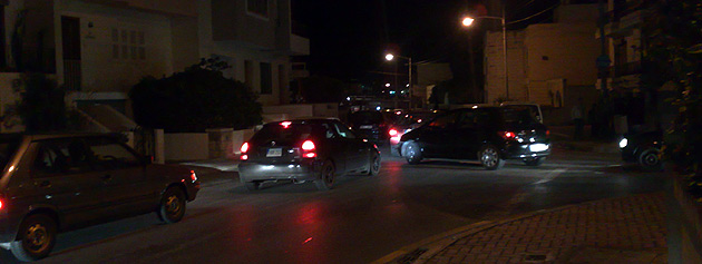The line of cars reached almost all the way up to my street in Swieqi