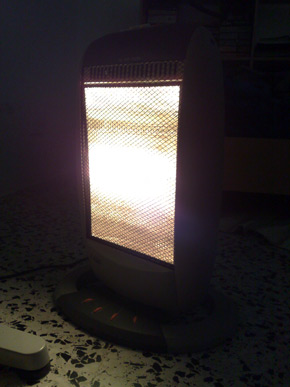 It's nice to have the heater running