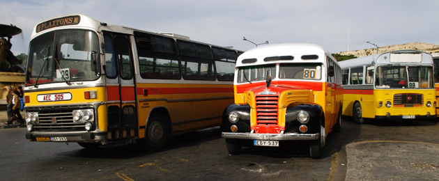Old Malta buses