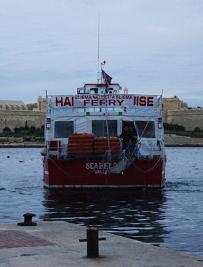 We took the ferry back to Sliema
