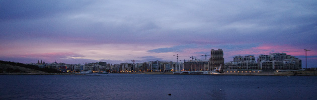 Beautiful colours over Sliema