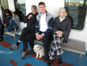 On the ferry to Gozo